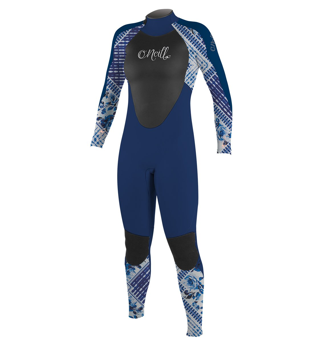 O'Neill Youth Epic 4/3mm Back Zip Full Wetsuit, Navy/IndPatch/Deepsea, 4 by O'Neill Wetsuits
