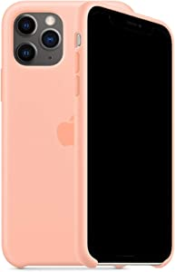 Kongwoo Silicone Case (Rubber Hard Cover) Compatible with iPhone 11 Pro Max (Grapefruit)