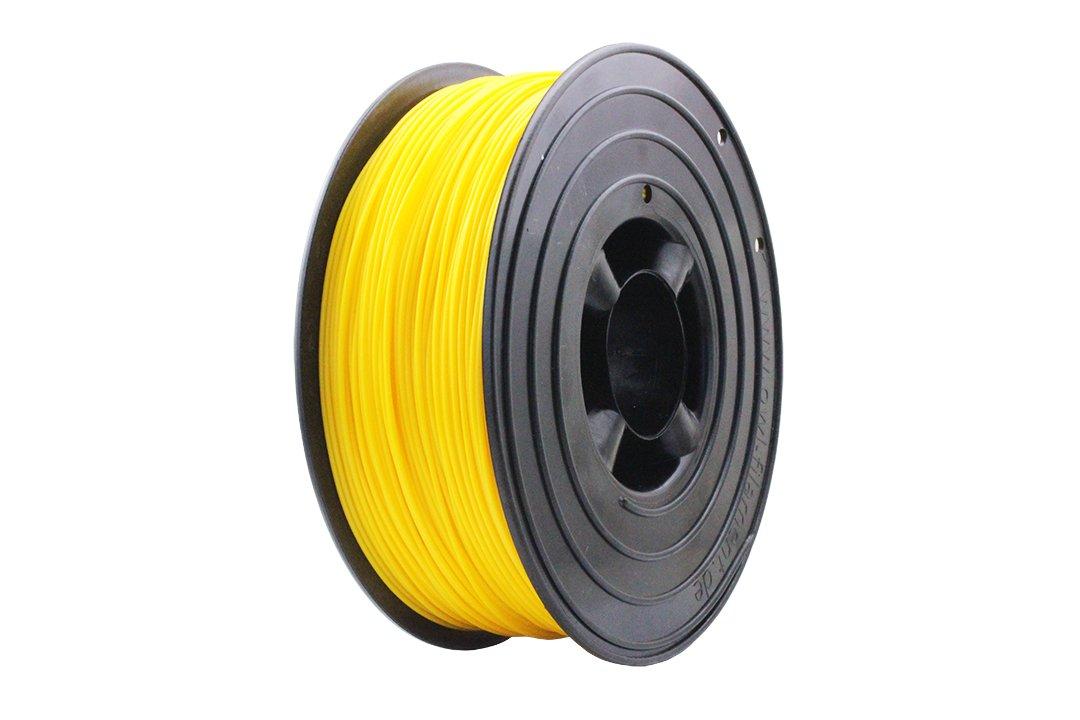 3D Filament 1kg B-Ware Filament Rolle in verschiedenen Farben Rot Gold Silber Grün Blau Braun Lila Violett Beige Transparent Gelb Orange Schwarz Weiß (Gelb (B-Ware))