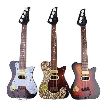 Juguete de guitarra - TOOGOO(R)Guitarra de simulacion de 4 cuerdas de ninos