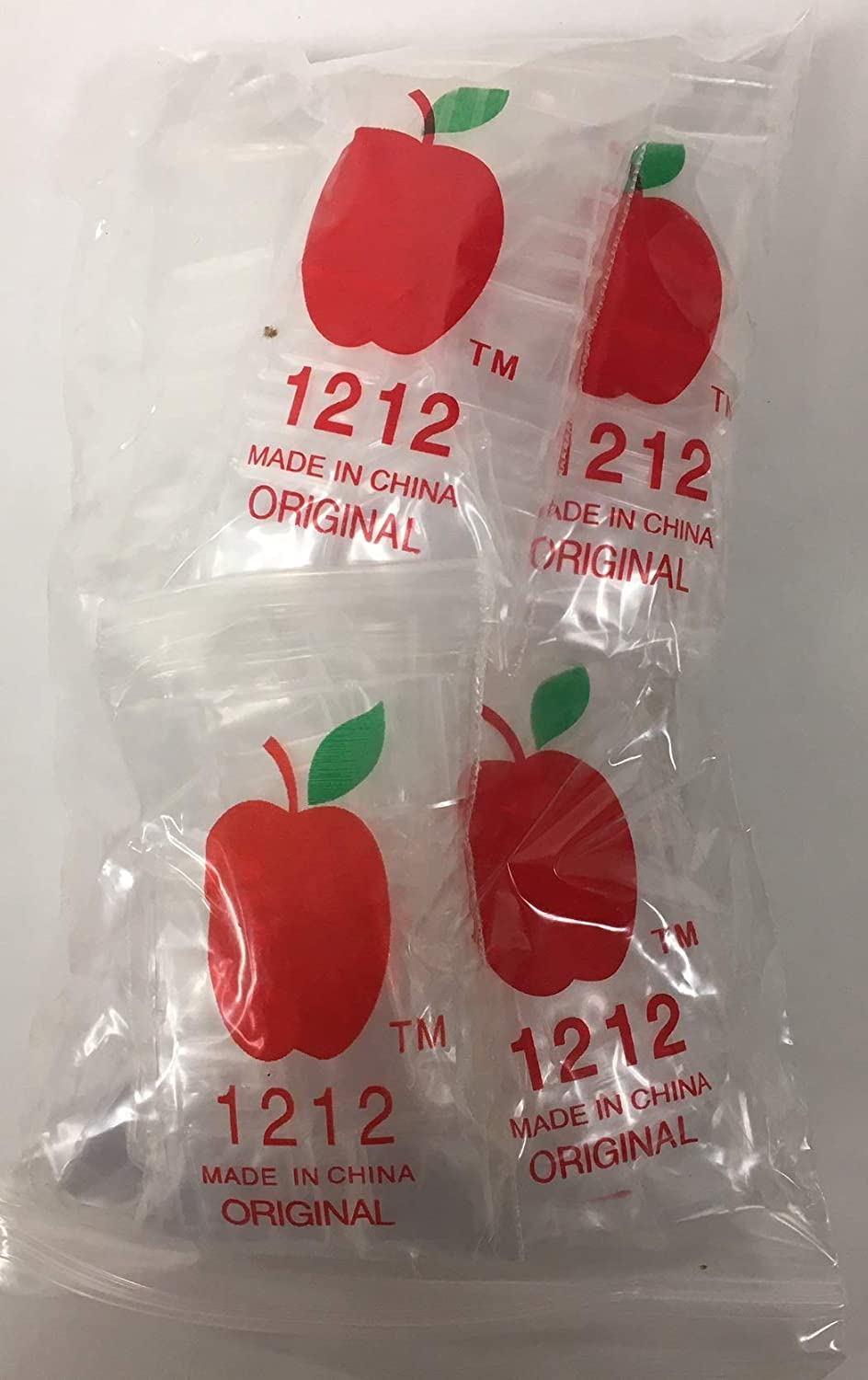 1,000 1/2x1/2 2mil Apple Brand Clear Resealable Bags .5 1/2 1212 X 1000 Baggies