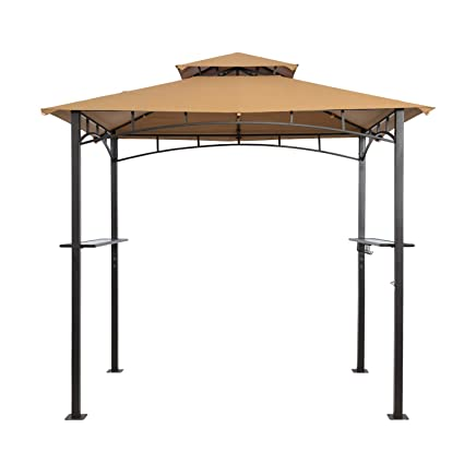 TJ Patio Grill Gazebo 8 X 5 Ft, Outdoor Patio Barbecue Grill Gazebo BBQ  Shelter