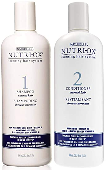 Amazon.com : Nutri Ox Shampoo and Conditioner for Normal Hair, Thicker and Fuller Looking Hair in Just 1 Week, 20.2 Ounce Value Pack : Beauty