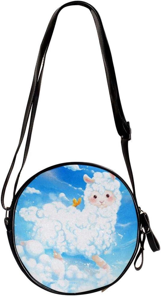 small crossbody bag for women and men,anti theft shoulder bags zip bag crossbody Art Animals 7x1.8 inch