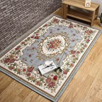 USTIDE Luxury Rustic Floral Rose Design Area Rugs Rural Country Style Carpet,63x90