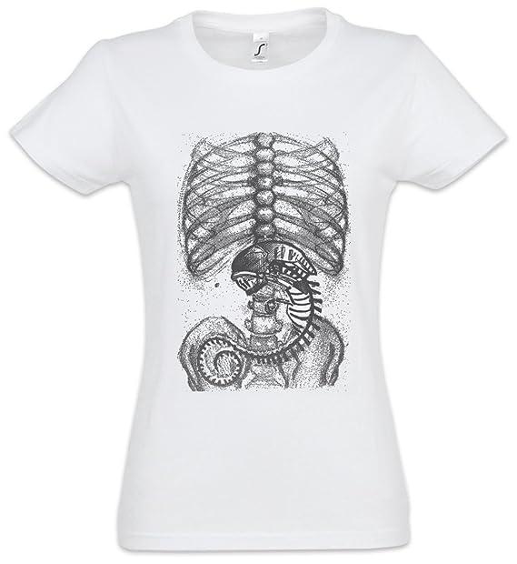 Urban Backwoods Xenomorph Alien II Mujer Girlie Women T-Shirt – Extraterrestre Ripley Prometheus Nostromo