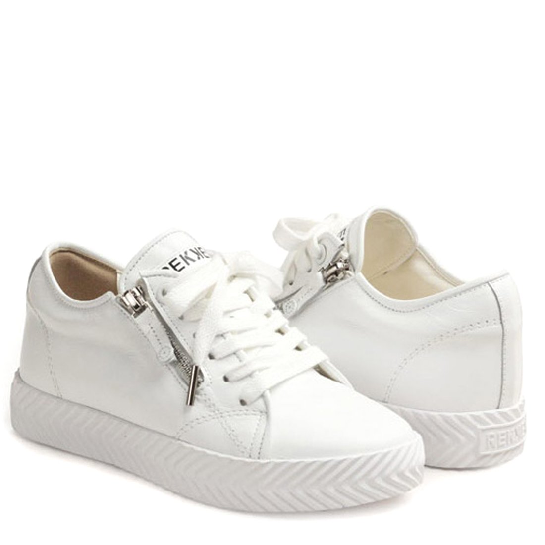 RACHEL COX Womens Classic Casual Shoes Sneakers with Side Zipper
