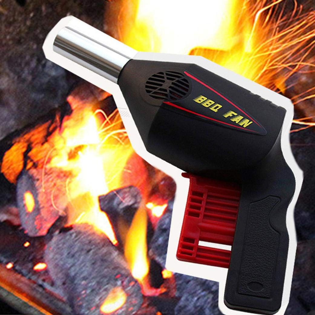 Portable BBQ air Blower Fan -Outdoor BBQ Hand Fan Barbecue Air Blower Grill Charcoal Fire Booster Ouneed-