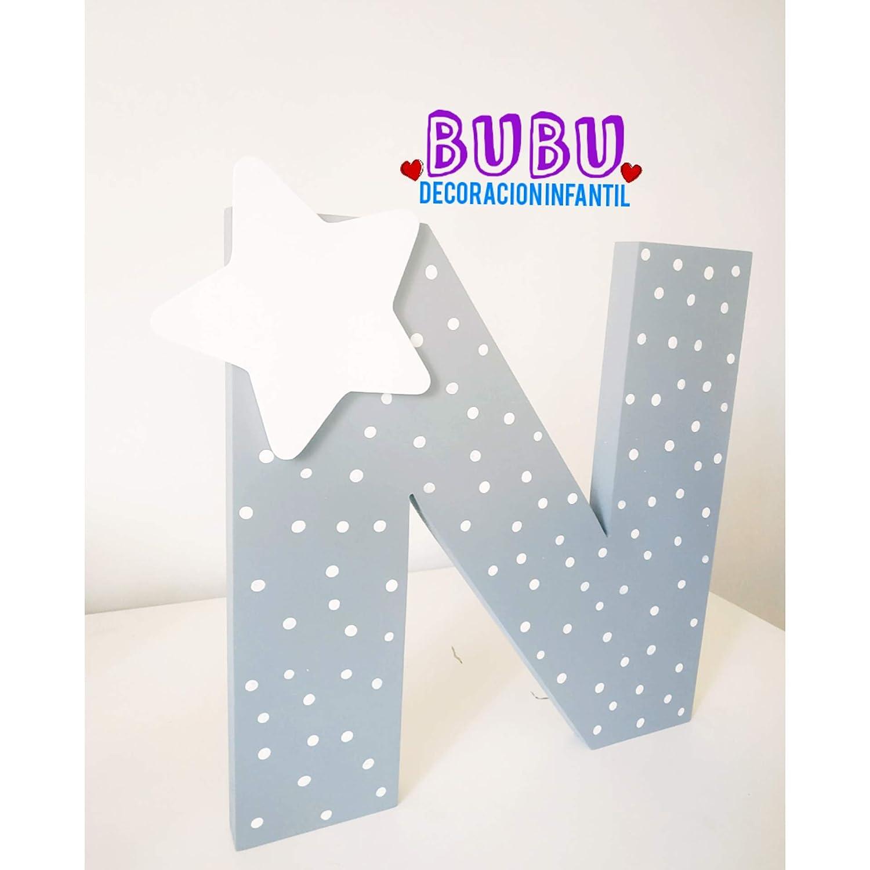 Letra inicial con decoraci/ón infantil personalizada