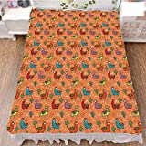 iPrint Bed Skirt Cover 3D Print,Latino Foliage Curved Lines Children Cartoon,Fashion Personality Customization adds Color to Your Bedroom. by 47.2''x78.7''