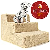 Best Dog Bed For Small Pets - Animals Favorite Pet Stairs, 3 Steps Ramp Ladder Review