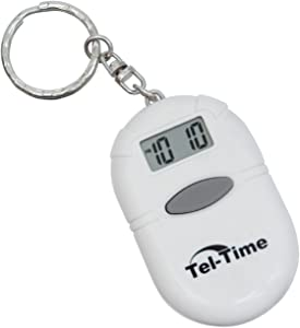 Oval Talking Alarm Clock Keychain