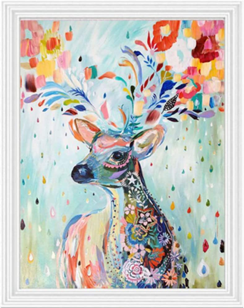 Colorful Cow DIY 5D Diamond Painting by Number Kits Crystal Rhinestone Diamond Embroidery Paintings Pictures Arts Craft for Home Wall Decor Full Drill