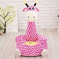 MeMoreCool Cute Cartoon Purple Girraffe Children Plush Cartoon Sofa,Kids Removable Cover Toy Chair for Christmas/Childrens day Gifts