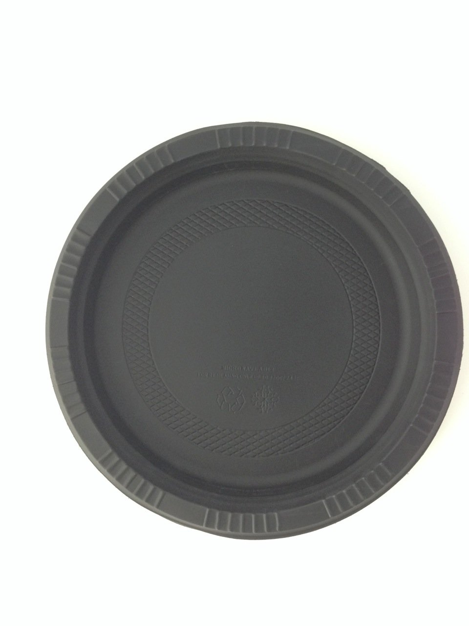 Yumi Return Compostable Natural Starch Black 10-1/4-Inch Plate, 500-pieces