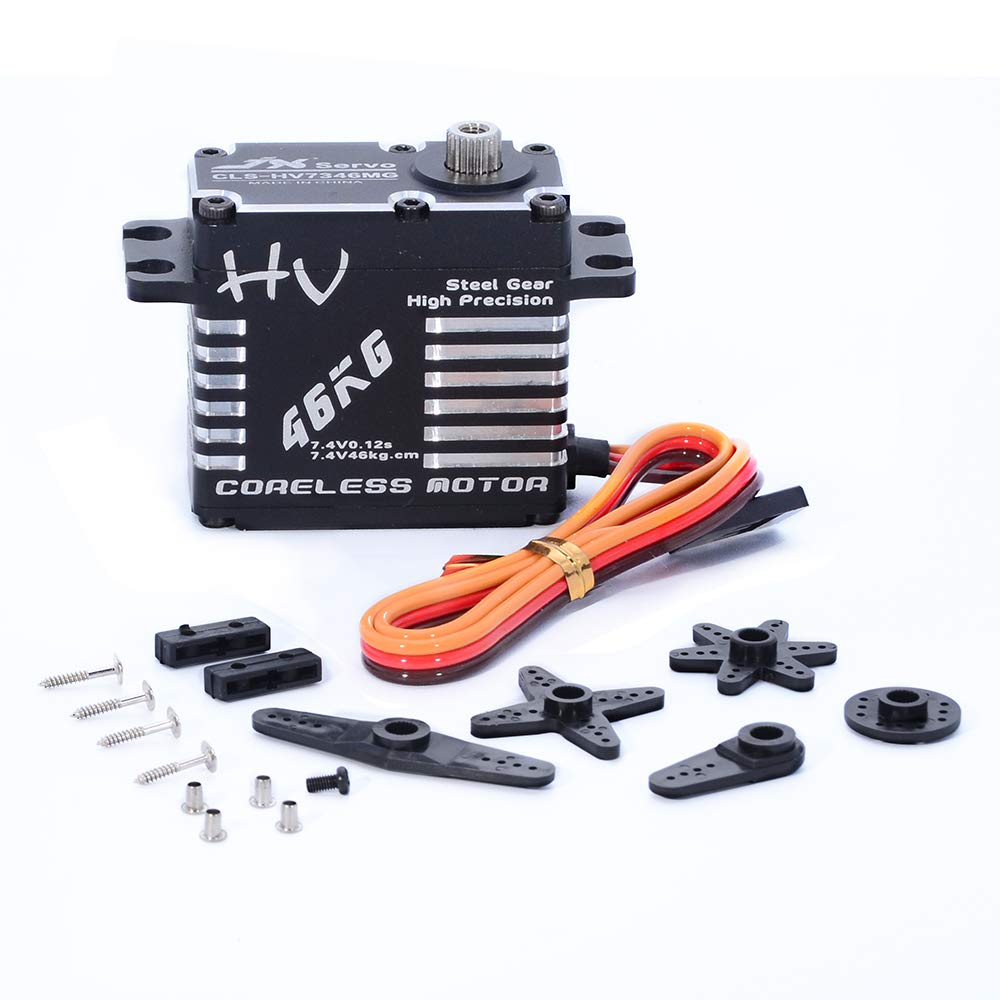 JX Servo CLS-HV7346MG 46kg Coreless High Precision Steel Gear Full CNC Digital Servo Motor for RC Car Robot Arm Helicopter Airplane Parts