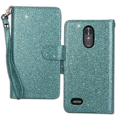 Ymhxcy LG Stylo 3 Wallet Case, LG Stylo 3 Plus Case,LG Stylus 3 Case,PU Leather [9 Card Slots][Detachable][Kickstand] Phone Case & Wrist Lanyard LG LS777-PT Mint by Ymhxcy (Image #2)