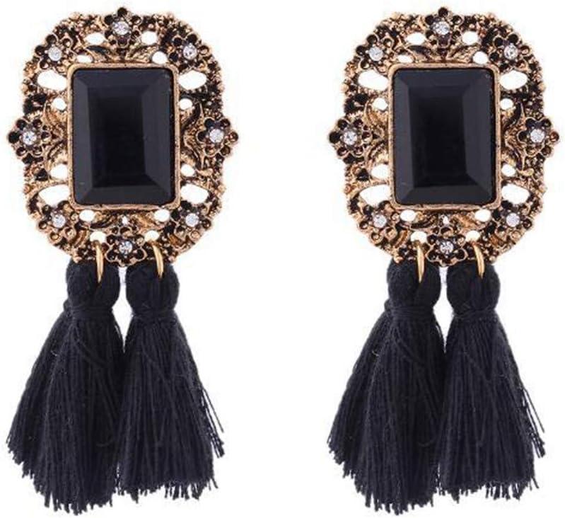 YDGCYK Pendientes Crystal Tassel Stud Earrings Fashion Diamond Pendientes De Piedras Preciosas Joyería De Moda para Mujer Arete