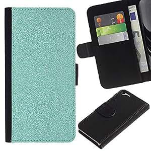 EJOY---La carpeta del tirón la caja de cuero de alta calidad de la PU Caso protector / Apple Iphone 6 / --Azul brillante de Bling Limpio