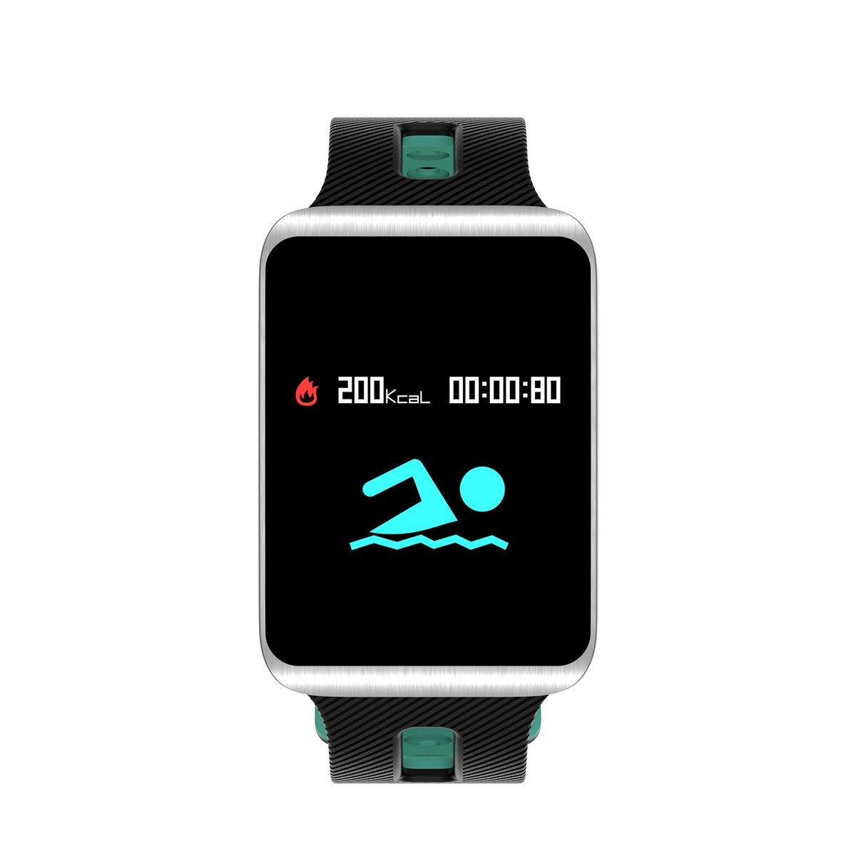 Fitness Tracker, TF1 rastreador de actividad con monitor de sueño, resistente al agua Bluetooth Smart reloj pulsera Deporte Podómetro Fitness Step ...