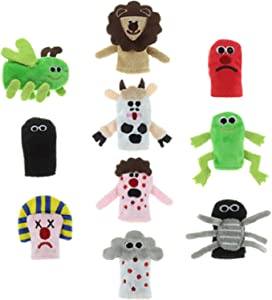 Passover 10 Plagues Finger Puppets. Bring Plagues of Egypt to Life at The Pesach Seder Table.