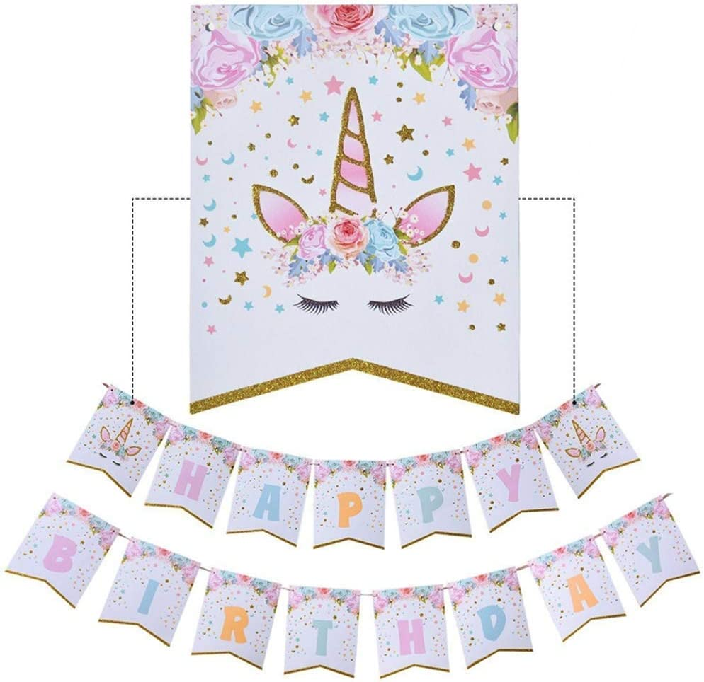Unicorn Pennant Banners