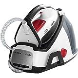 Bosch TDS6040 EasyComfort Serie 6 - Centro de planchado, 2.400 W, 5.8 bares de presión, color blanco y negro