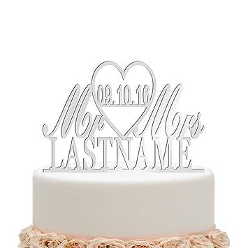 Vspg Brauch Acryl Hochzeit Cake Topper Personalisiert Tortenaufsatz