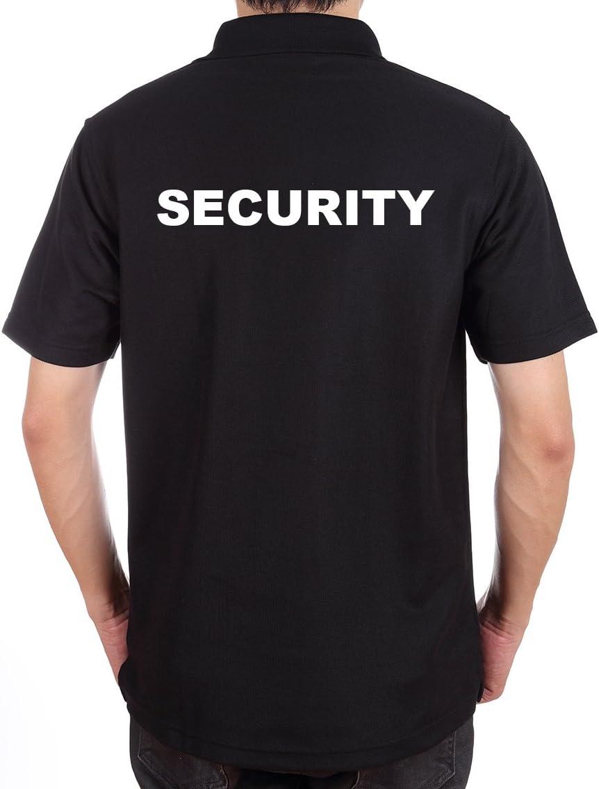 crazzy-shirt Security de Polo Camiseta Negro – Pecho & Espalda ...