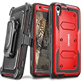 COVRWARE® HTC Desire 626 / 626s - [Aegis Series] Heavy Duty Full-body Rugged Holster Armor Case with Built-in [ Screen Protector ] & Belt Swivel Clip [ Kickstand ] - Red (CW-D626-AG03)