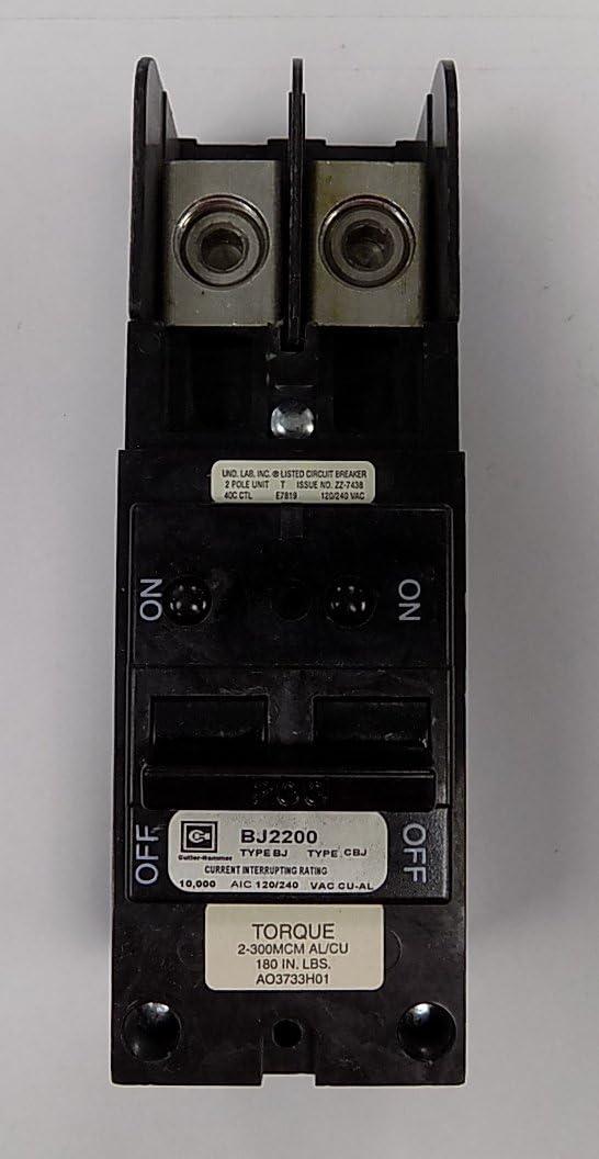 B00002N5D9 Cutler-Hammer BJ2200 BJ-2200 200-Amp Bolt-In Main Circuit Breaker 61OBzBe5rzL.SL1056_