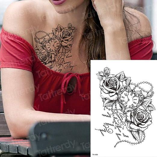 SDEFGH Etiqueta engomada del tatuaje 3 Piezas Tatuaje Temporal ...