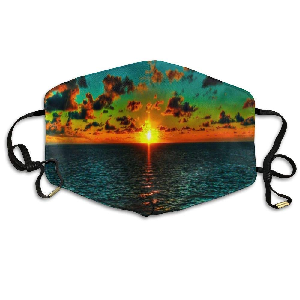 MEINIU Soft, Odorless,Suit for Sporting,Adjustable,Comfortable and Warm Unisex Sea Sunset View Reusable Anti-dust Breathable Health Masks Mouth Face Mask