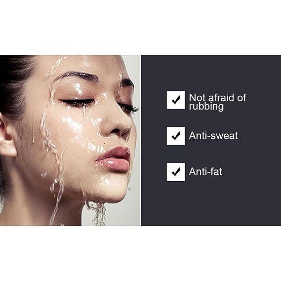 KOBWA - Forro líquido mate impermeable, de larga duración, color negro, para maquillaje: Amazon.es: Belleza