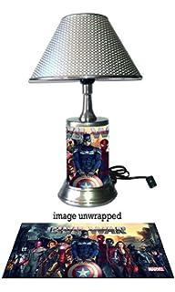 Captain America Civil War Lamp With Chrome Shade, Marvel
