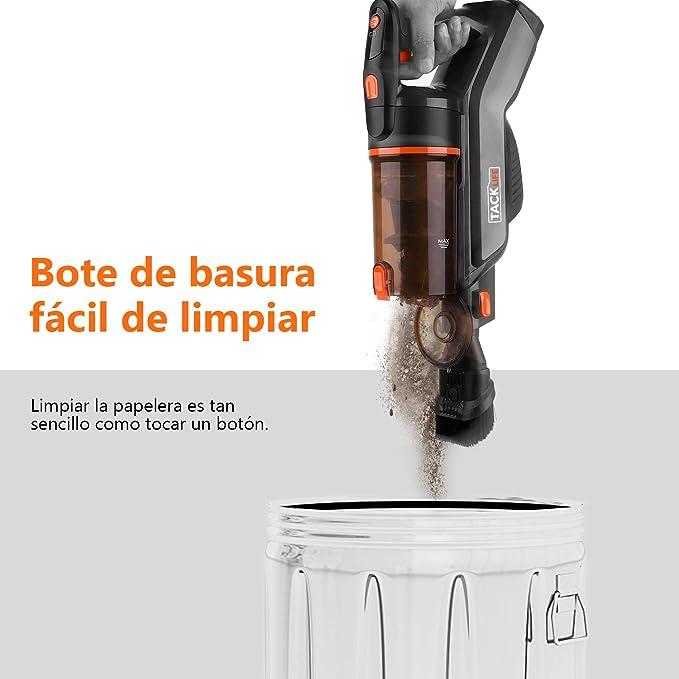 TACKLIFE Aspirador Inalámbrico, VCST01A Aspiradora Sin Cable, Función 2 en 1 y Batería de 2200 mAh con Accesorios, 1,35 kg para Limpiar la Casa, el ...