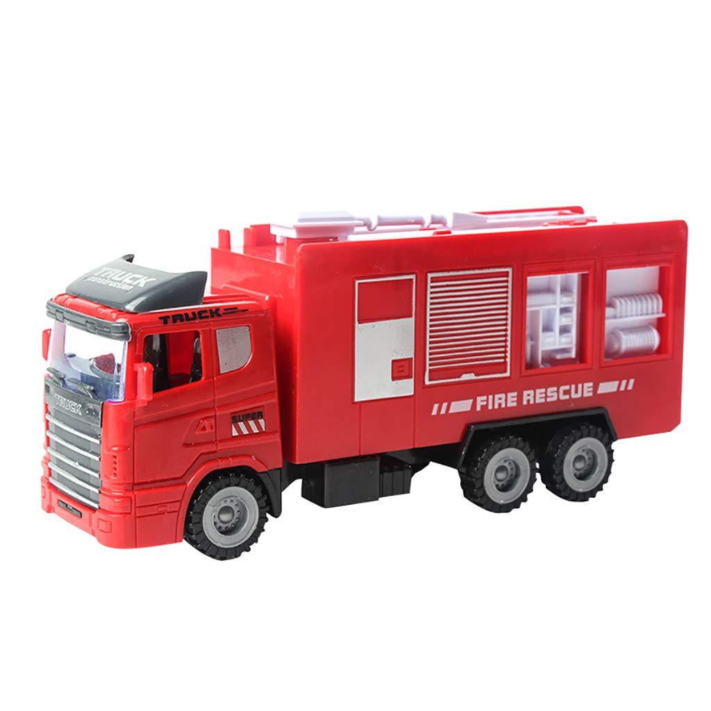 DEtrade Reibungsgetriebene Autos Push and Go Auto Baufahrzeuge Spielzeug für Kinder (D) A