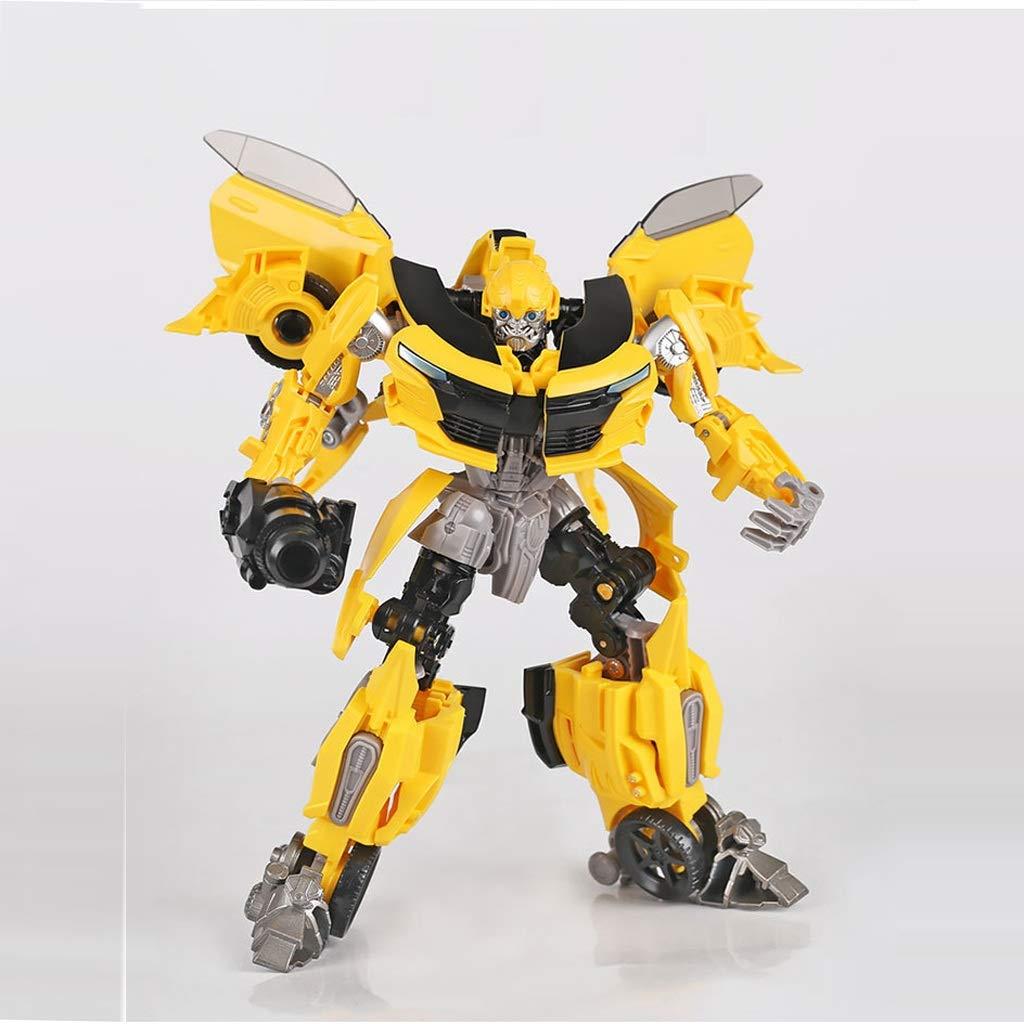 Xuping Transforming-Spielzeug Transformers-SS Optimus Roboter Modell Spielzeug Dekoration/Geschenke/Sammlungen/Kunst (19CM) (Farbe : Gelb)