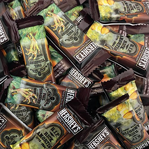 Hershey's Tombstone Milk Chocolate Halloween Candy Snack Size Bars, 0.45 Ounces Bar (Pack of 2 Pounds)