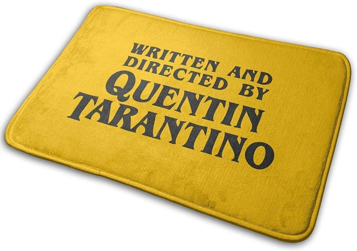 Alfombra para Interior y Exterior Hey Guy Alfombra de ba/ño de poli/éster escrita y dirigida por Quentin Tarantino para Puerta Delantera de ba/ño 15.7 x 23.5in