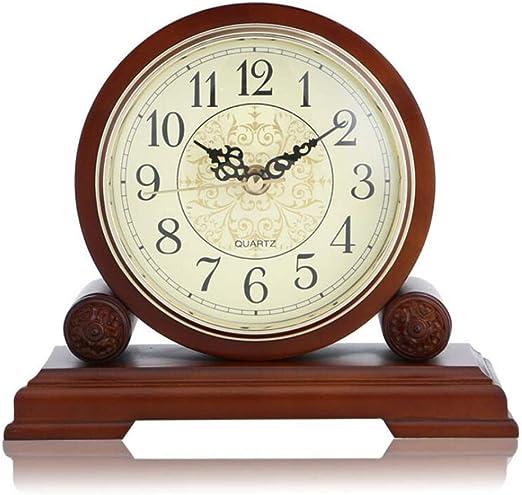 GongDi Reloj de Mesa Mantel Relojes Madera Creativa Sala de Estar ...