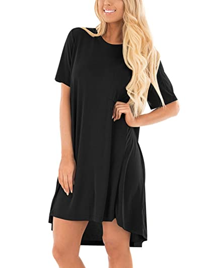 CNFIO Women Plus Size Vintage Dress Ruffled Casual Loose Pleated ...