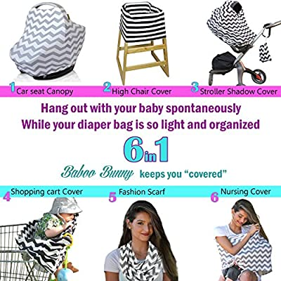 Nursing Cover Breastfeeding Scarf, Baby Car Seat Canopy, Shopping Cart, Stroller, Carseat Stretchy Covers Unisex Girls and Boys