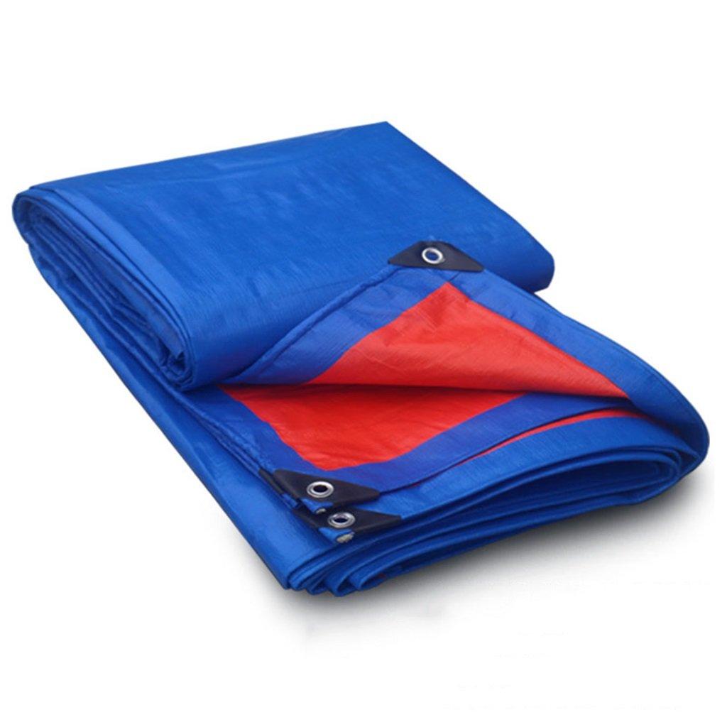 Im Freien Verdicken Sie im Freien regendichtes Sonnenschutzplanepkw-LKW-Hallengewebe Hochtemperaturanti-Altern, Blau + Orange (Farbe   A, größe   5  5m)
