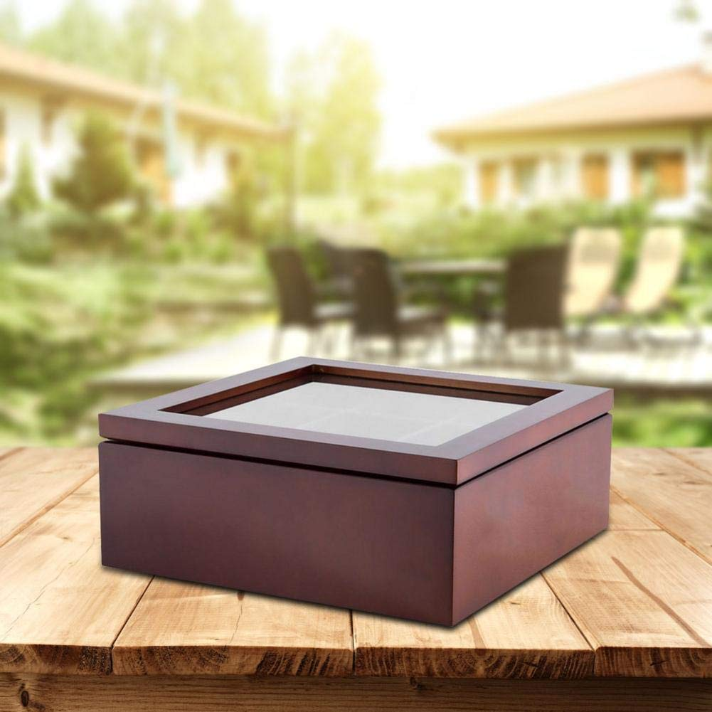 Wooden Tea Box 9 Compartment Storage Case for Tea and Coffee