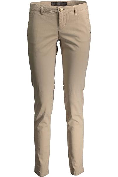 GUESS JEANS W62B08W5DXB Pantalon Mujer Beige A105 31: Amazon ...