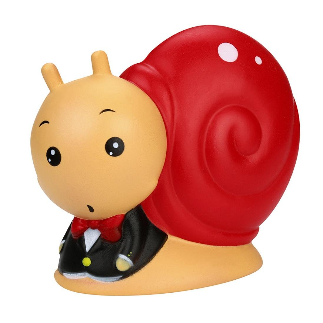 CSSD Kawaii Jumbo {Snail} {Squishy} {Slow Risin} {Cream Scented} Stress Reliever Toys (Red)