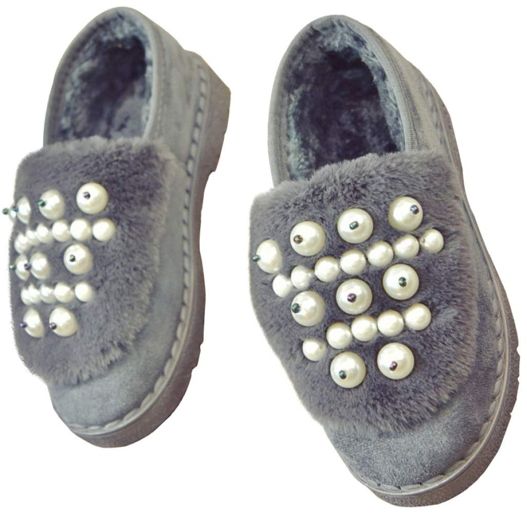 QVRGE Schwangere Frauen Schuhe Tragen Rutschfeste Weiche Schneeschuhe Erbsen Flache Baumwolle