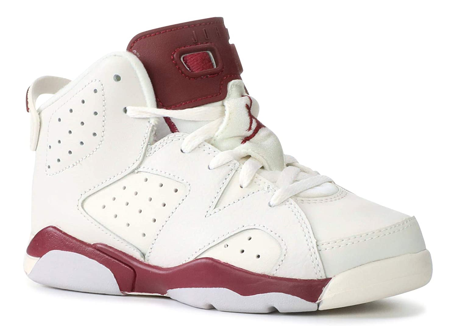 Jordan Air 6 Retro White Maroon Youth 3y
