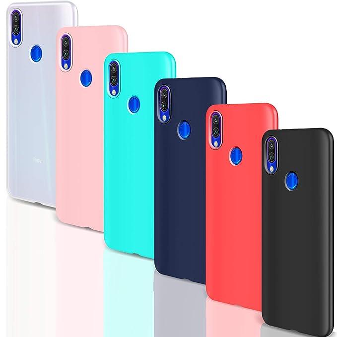 Leathlux 6 x Funda Xiaomi Redmi 7, 6 Unidades Carcasas Juntas Ultra Fina Silicona TPU Flexible Colores Carcasas Xiaomi Redmi 7 / Xiaomi Redmi S3 / ...